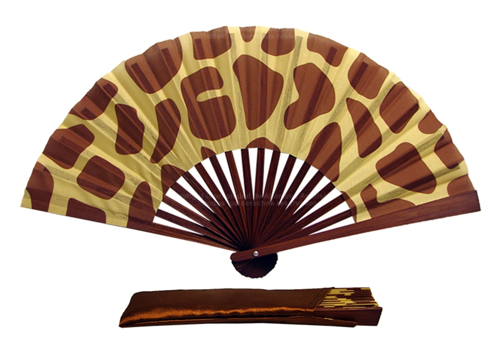 016 - Abanico Bambú diseño Animales