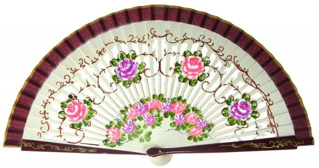 1268 – assorted fans hand painted on 2 sides