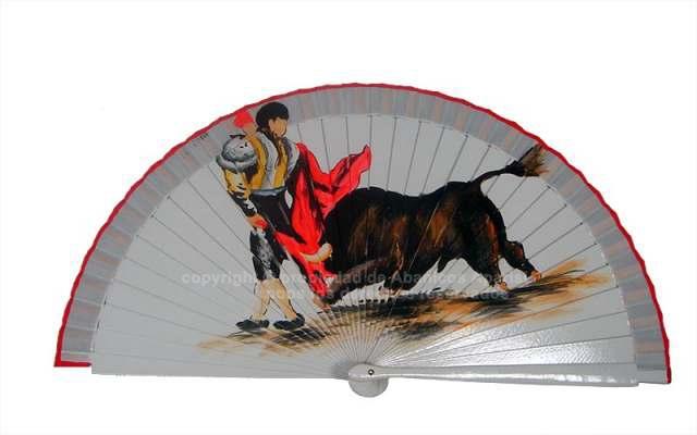 219/SU - Abanico Madera Diseño Toro Surtido
