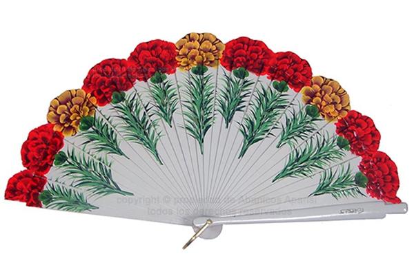 4179 – Wood fan carnations 2 sides