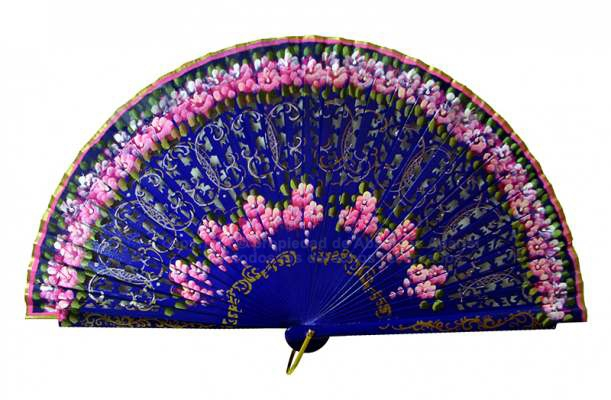 4190SU – Wood luxury fan hand painted in both sides