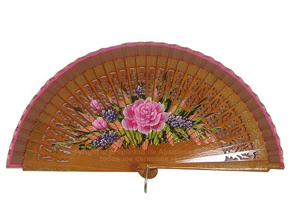 4195/SU – Wooden fan 2 sides luxury