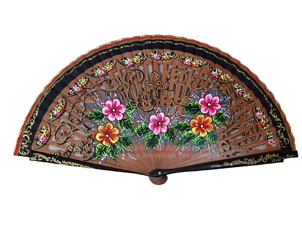4200 – Bubinga wood fan 2 sides two-colored
