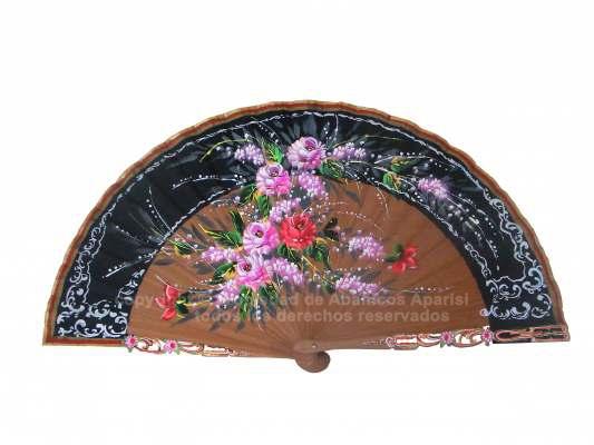 4202/SU - Abanico madera bubinga lujo 1 cara
