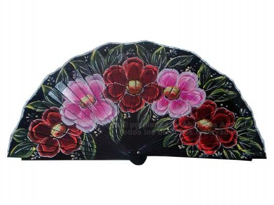 4206/SU – Wood Fan Flowers 1 side