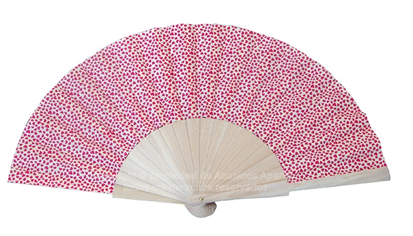 540 – Wood fan fabric with hearts 1 side