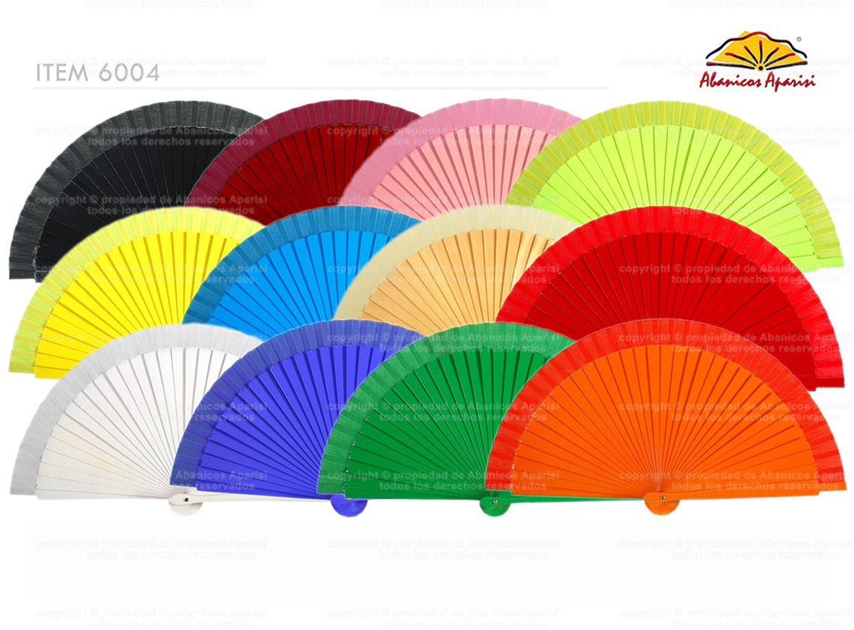 6004 - Abanico surtido bolso color liso 2 caras