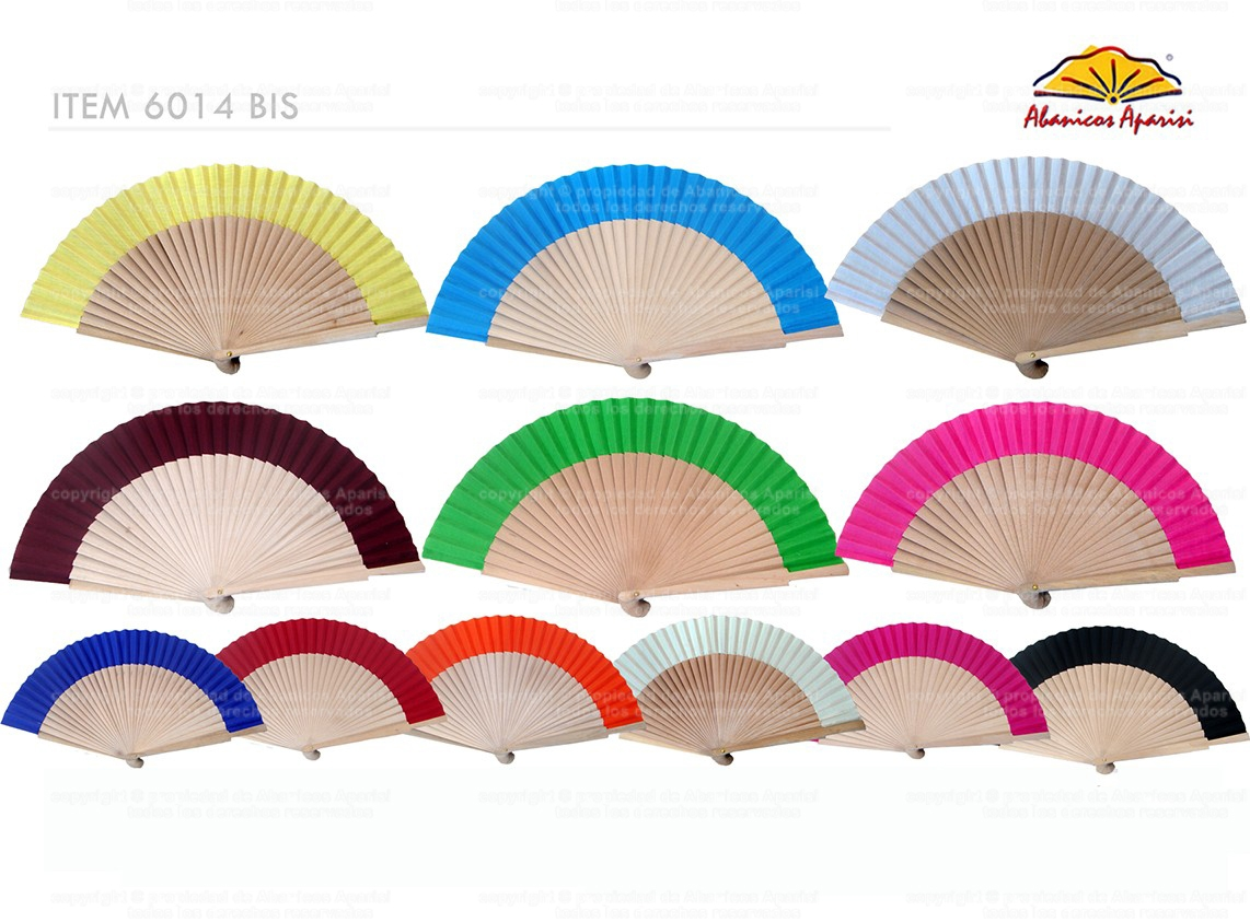6014BIS – Natural wood fan fabric in colors