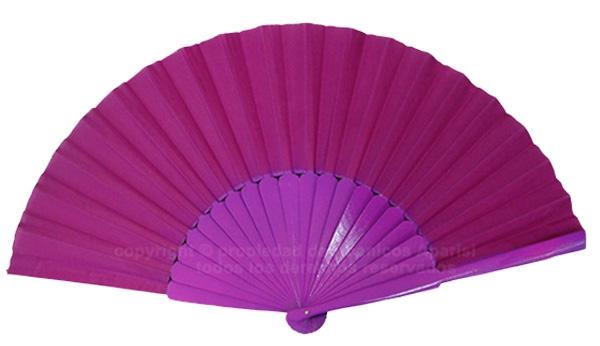 623/28 – Large wooden fan fucsia color