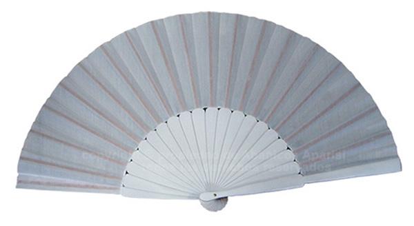 623/8 – Large wooden fan white color