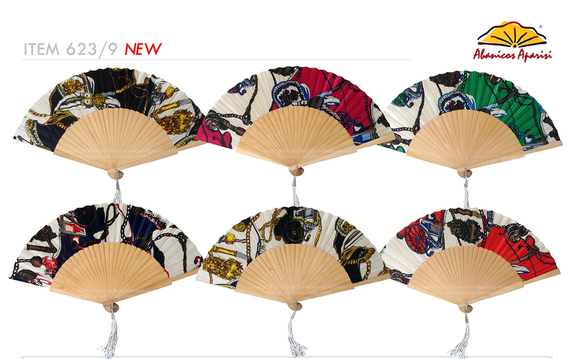 623/9 – Large wooden fan assorted design