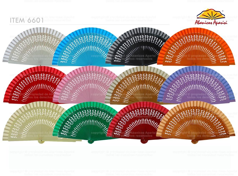 6601 - Abanico bolso calado colores surtidos