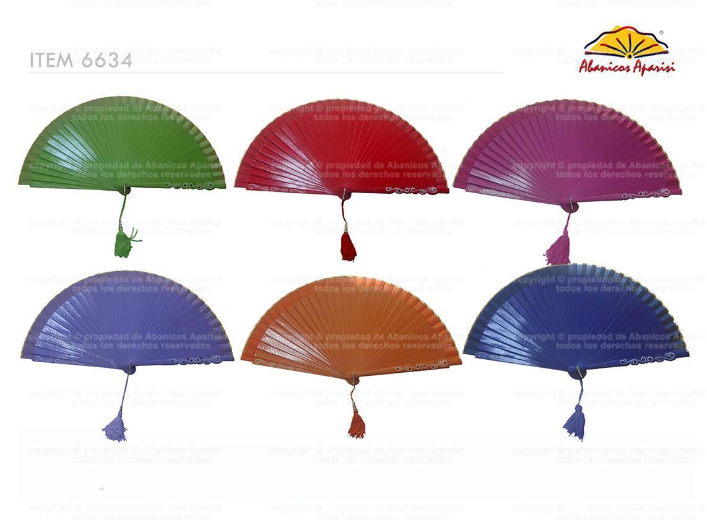 6634 - Abanico Madera Liso Cabera Especial