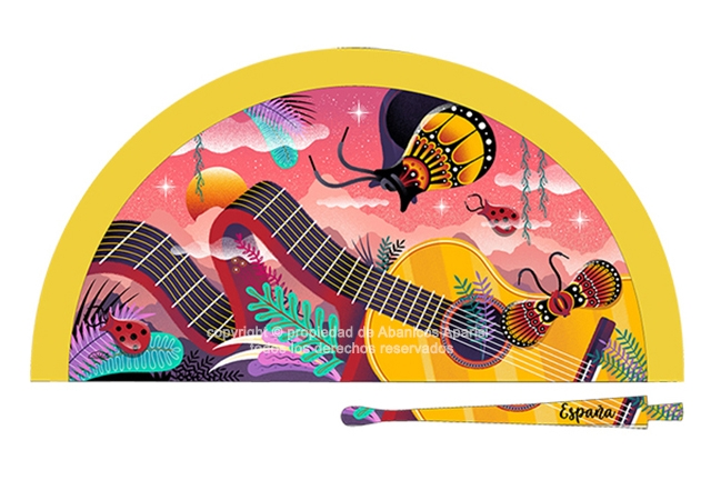 70199 – Acrylic fan Spain guitar