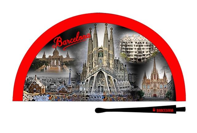 70204 - Abanico acrílico Barcelona noche