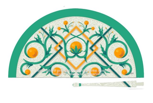 70237 – Acrylic fan Valencia tile