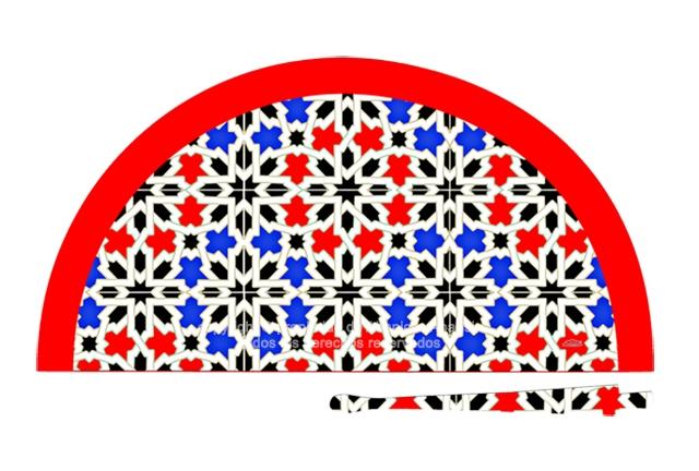 70702 - Abanico acrílico mosaico