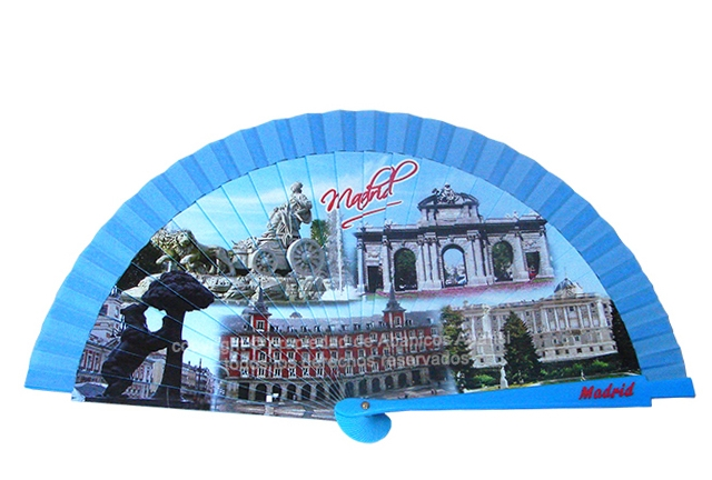 74099 - Abanico acrílico Madrid monumentos