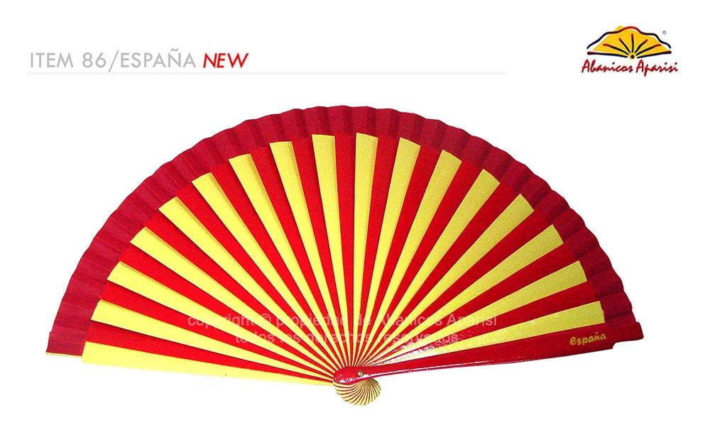 86/SPAIN – Wooden fan two coloured Spain