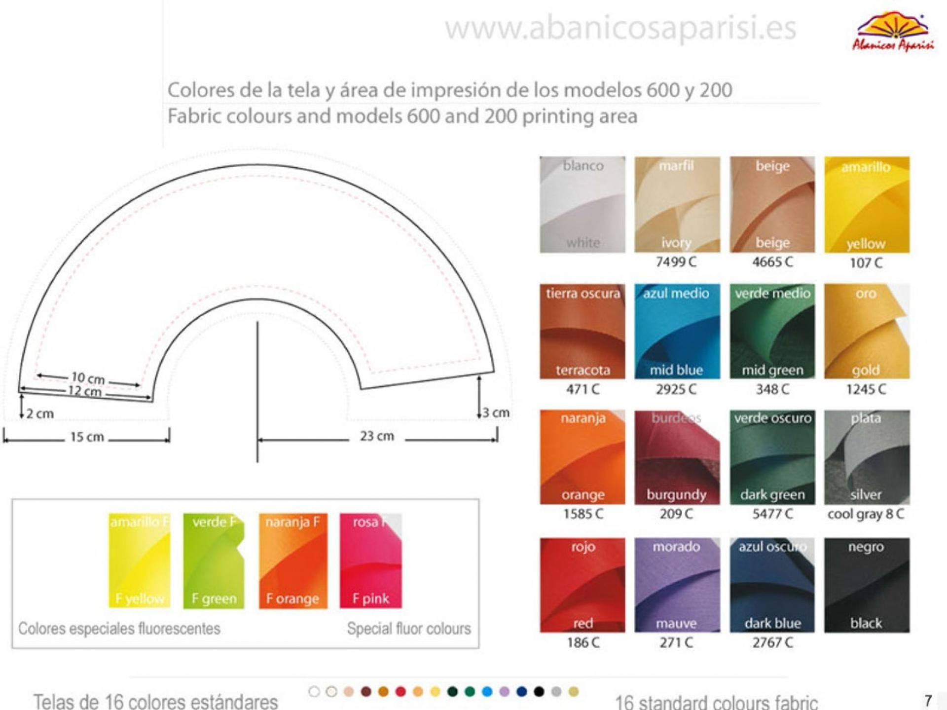 Colores telas