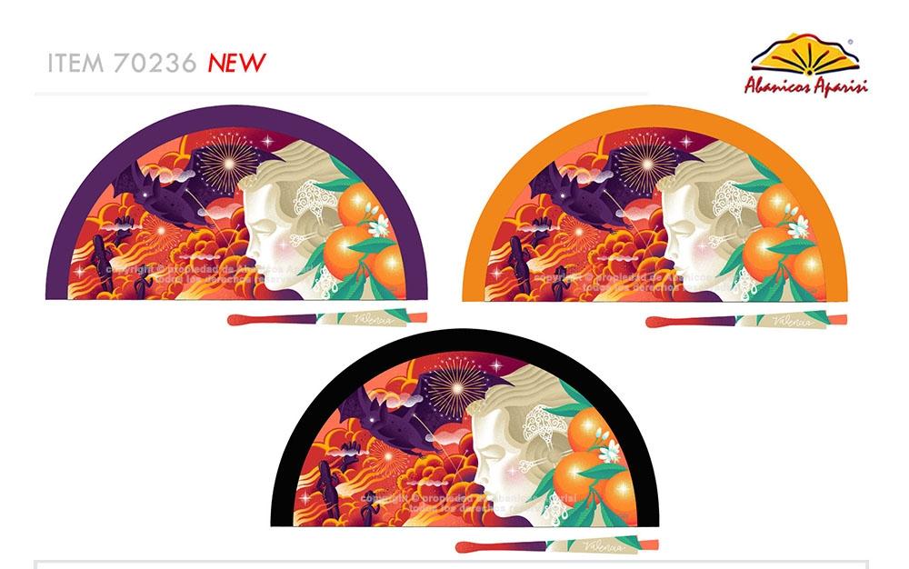 70236 – Acrylic fan Fallas woman