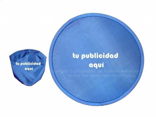 P08 - Pai Pai frisbee 25 diámetro plegable impreso por una cara. tela   mango de plástico (impresión transfer medida máx. 10x10cm)