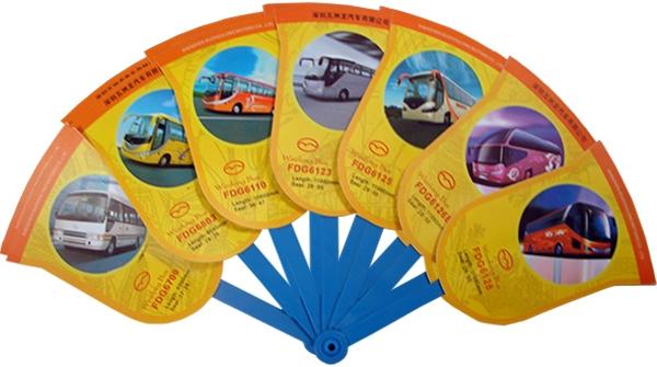 P01 - Abanico de publicidad con 7 varillas y 7 pétalos para personalización.