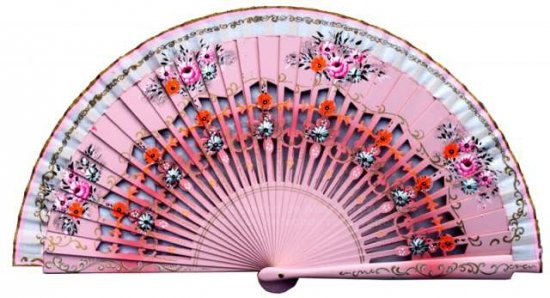 1262 – assorted fans hand painted on 2 sides