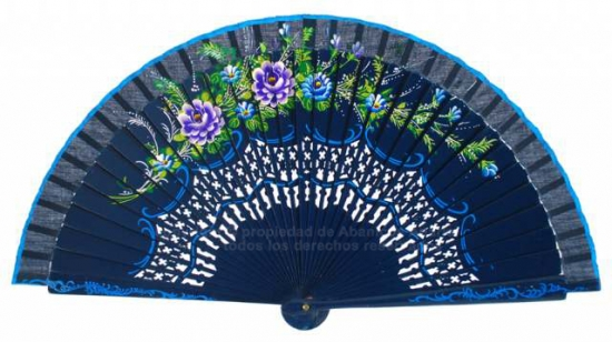 1800 – Wood fan hand painted on both sides.