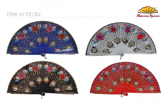 4192/SU – Wooden fan 2 sides luxury