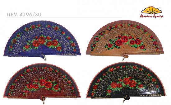 4196/SU - Abanico madera 2 caras lujo