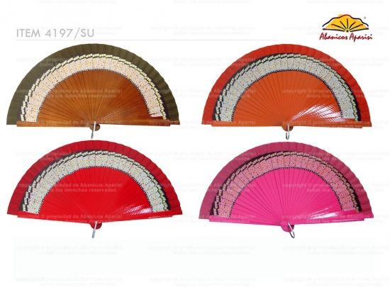 4197/SU – Natural wood fan 1 side border