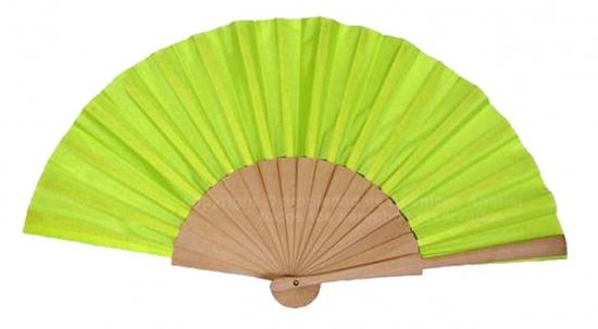 530/Fluor - Abanico madera tela fluor