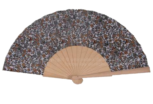 537 – Wood Fan Flower Fabric – 1 side