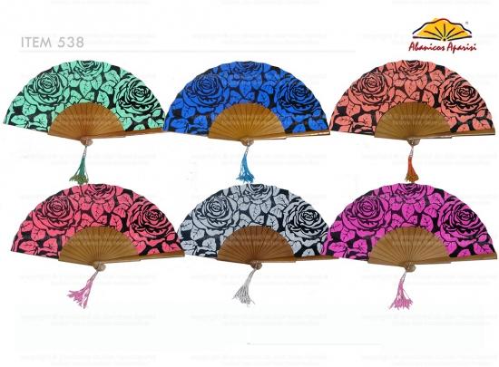 538 – Wood Fan Flower Printed