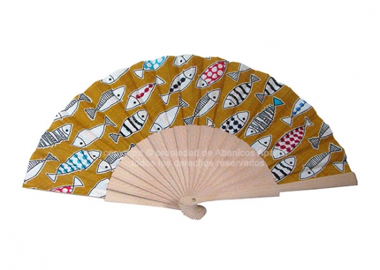 549 – Natural wood fan fishes