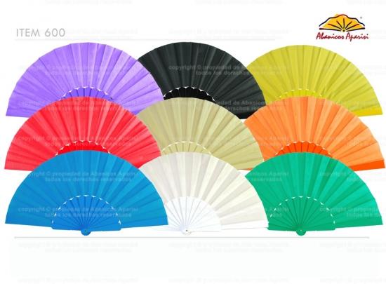 600 Abanico Regalo - colores lisos
