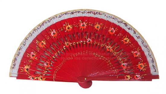 6010 – assorted hand painted party fans