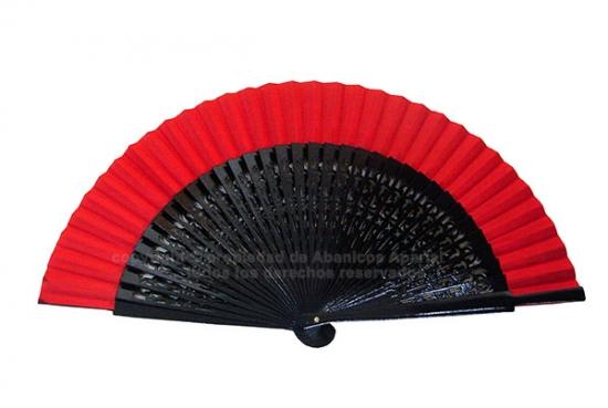 Wooden fan black openwork fabric colours