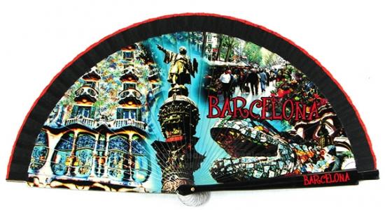 60225 – wooden Barcelona fan