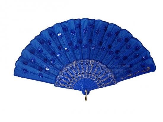 618/SU - Abanico plástico pavo real surtido colores