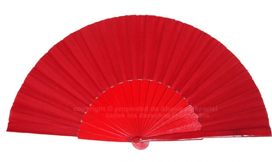 623/11 – Large wooden fan red color