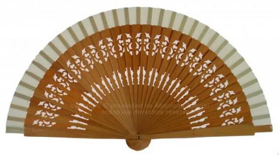 6601 – fretwork wooden handbag fan selection of colors