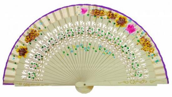 6615 – handbag fan hand painted on 2 sides