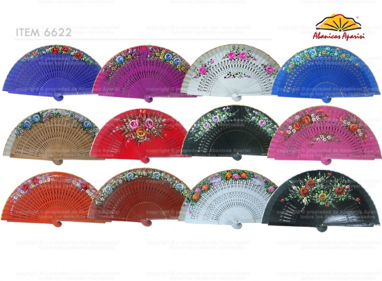 6622 – handbag fan hand painted on 2 sides