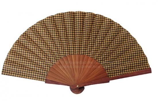 669 - Abanico madera pulida caballero