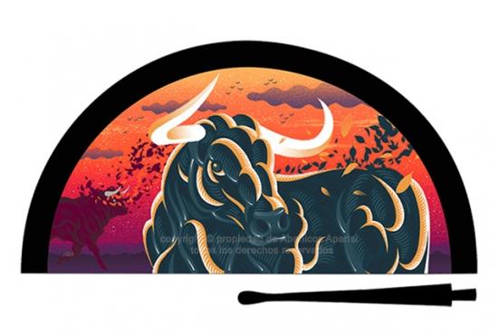 70196 – Acrylic fan bull