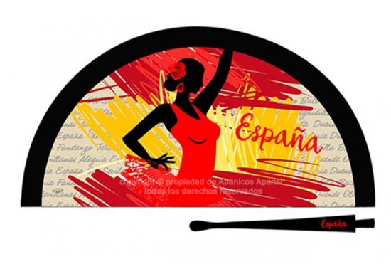 70200 – Acrylic fan Spain woman silhouette
