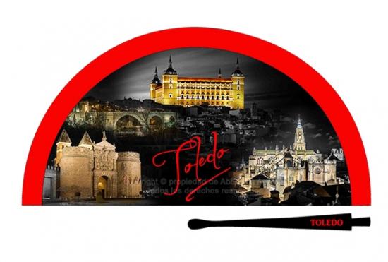 70203 - Abanico acrílico Toledo noche