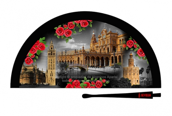 70206 - Abanico acrílico Sevilla nocturno